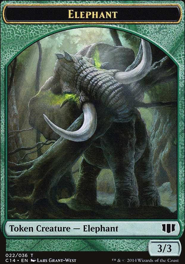 Elephant Token - Green - 3/3